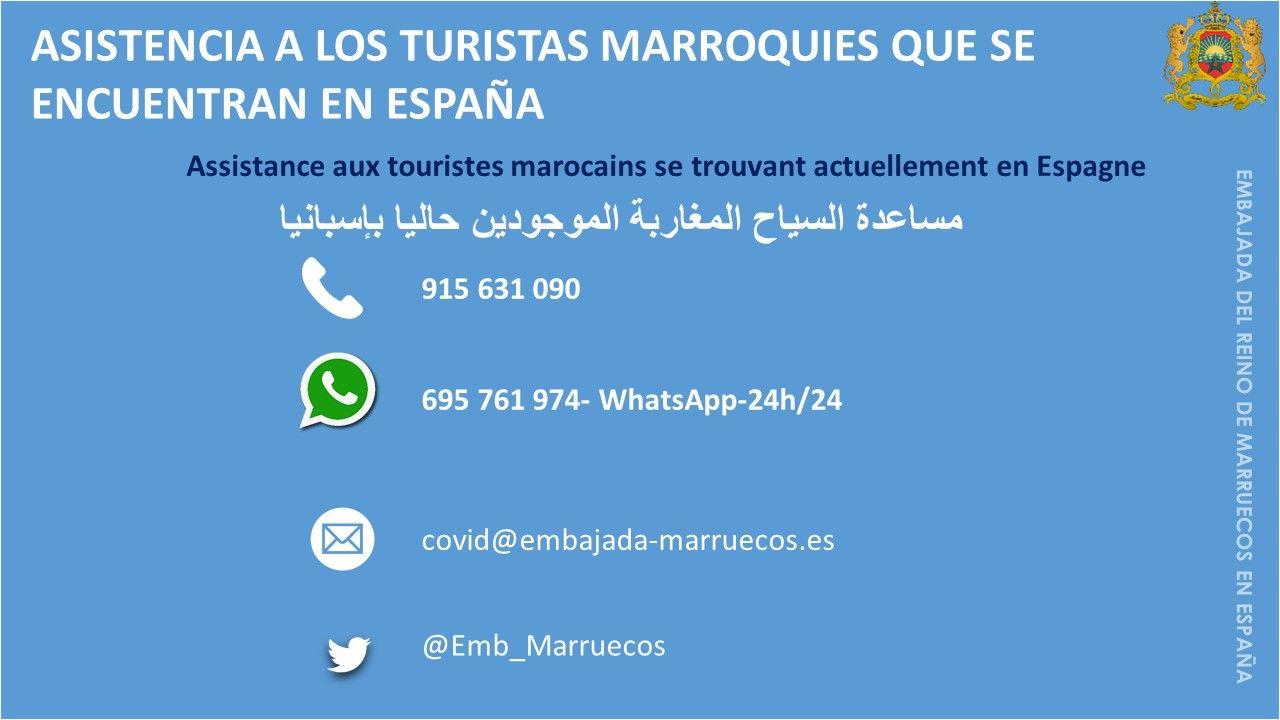 Asistencia a los turistas marroquíes que se encuentran en España