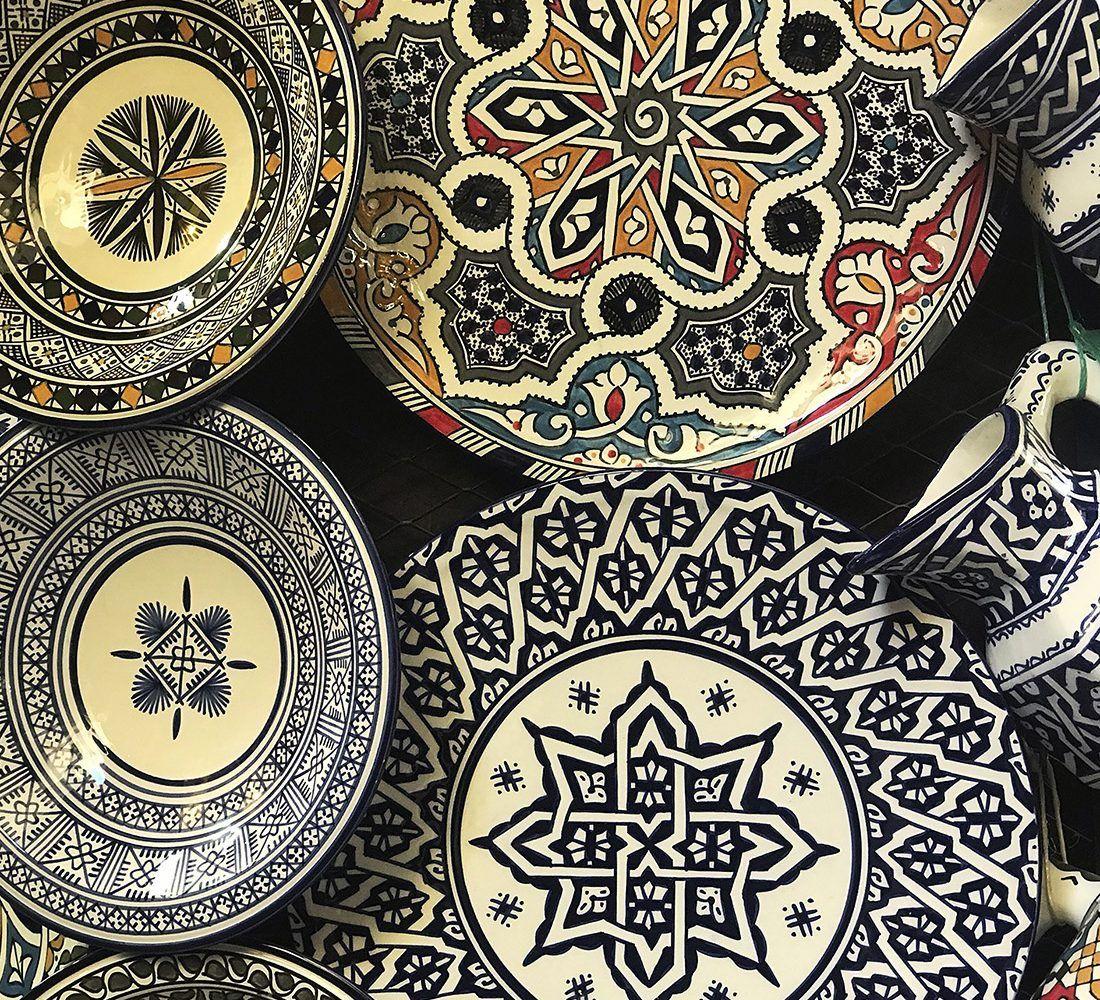 platos de ceramica comprar en fez maventur