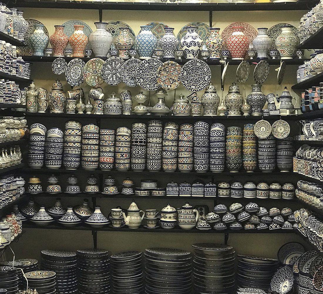 tienda de ceramica en fez maventur